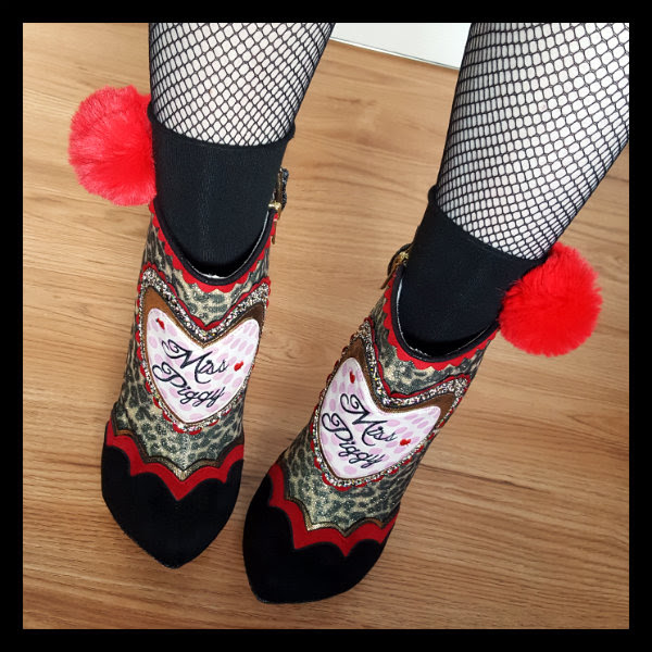 wearing Irregular Choice Disney Muppets Fierce Piggy boots