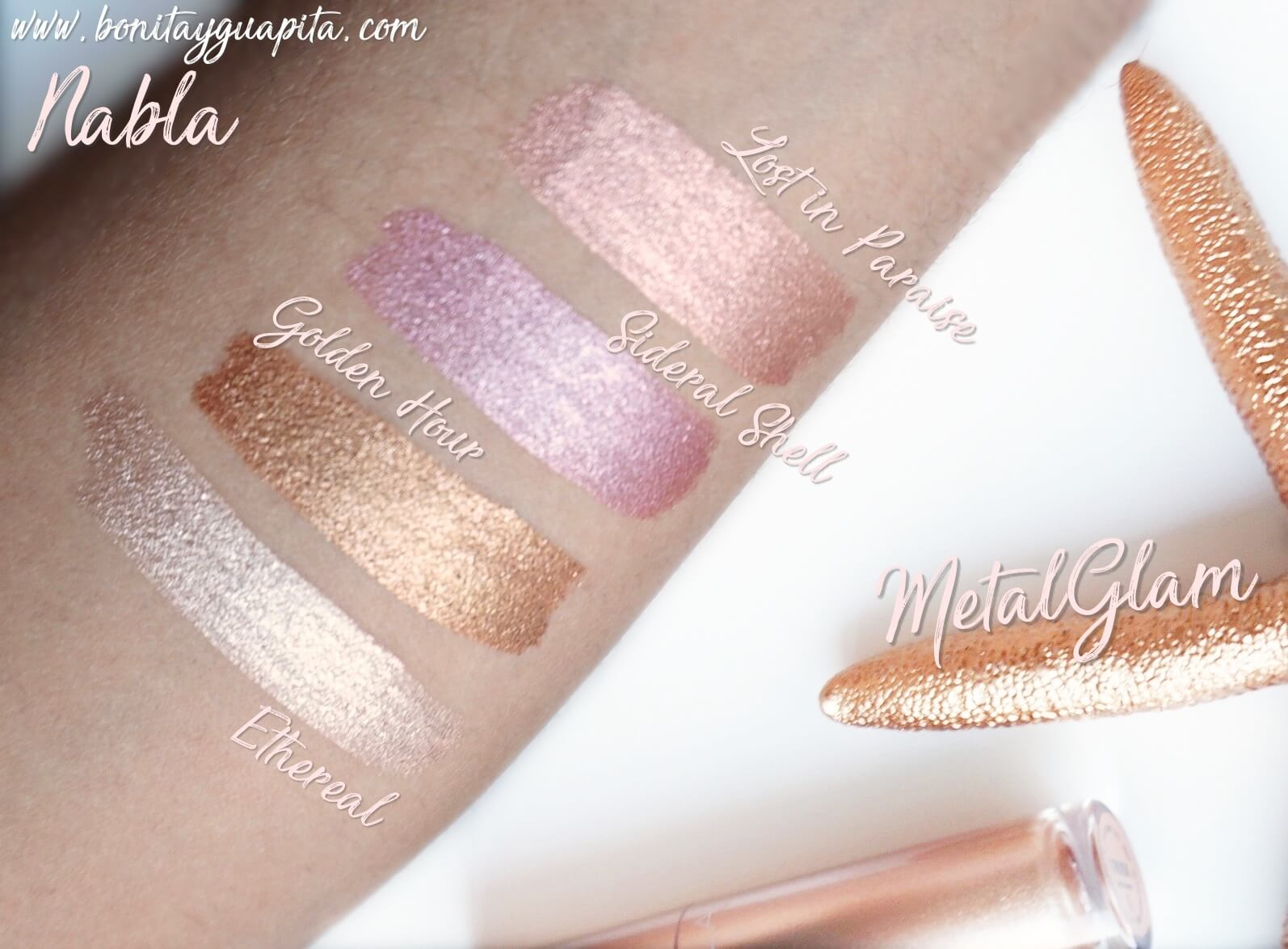 metal glam nabla swatches