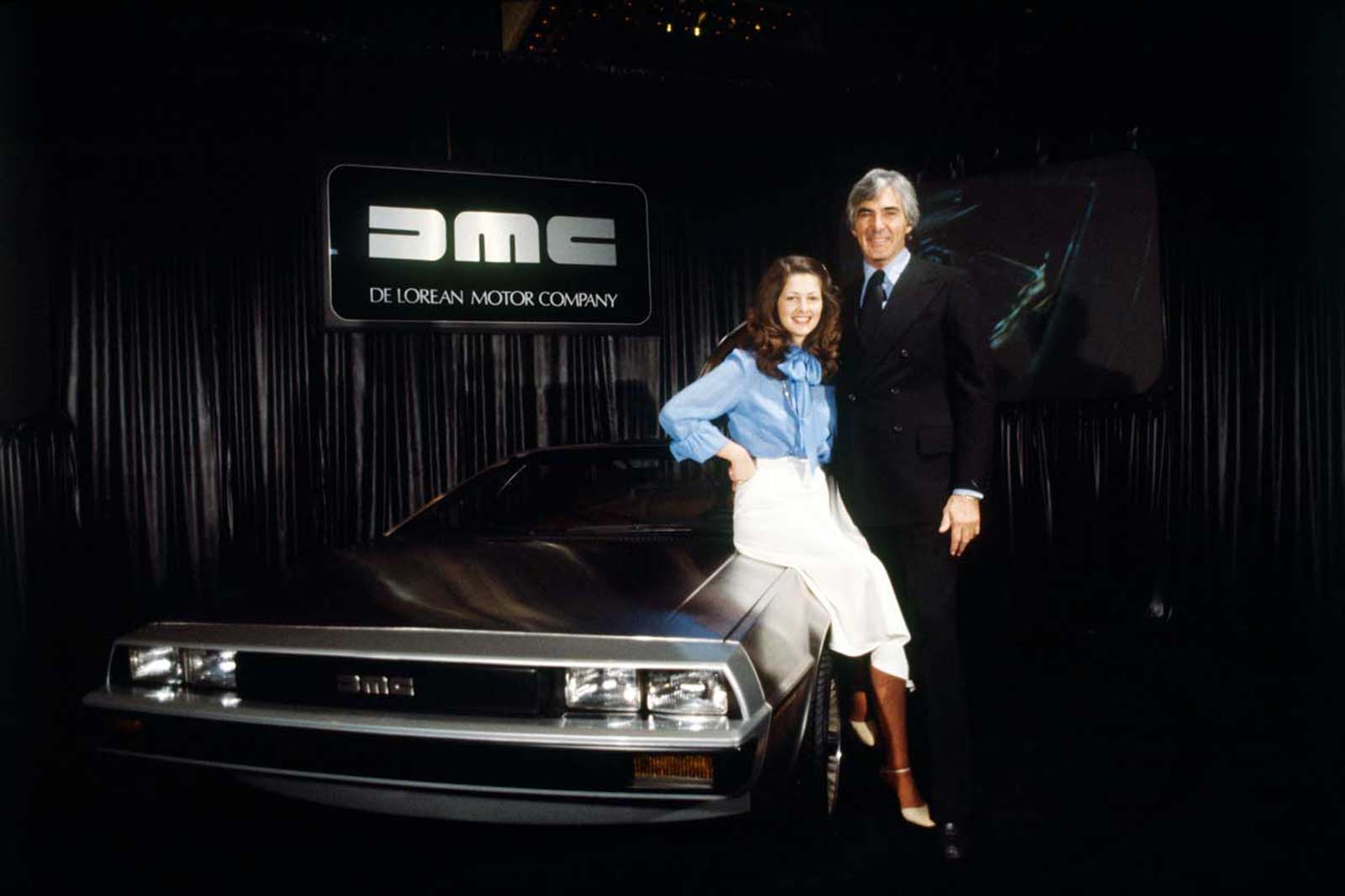 DeLorean and his wife Christina Ferrare. 1980.