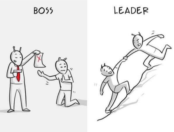 7 Pictures That Depict The Differences Between A Boss And A Leader