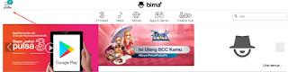 klik profile dengan logo avatar disebelah kiri atas