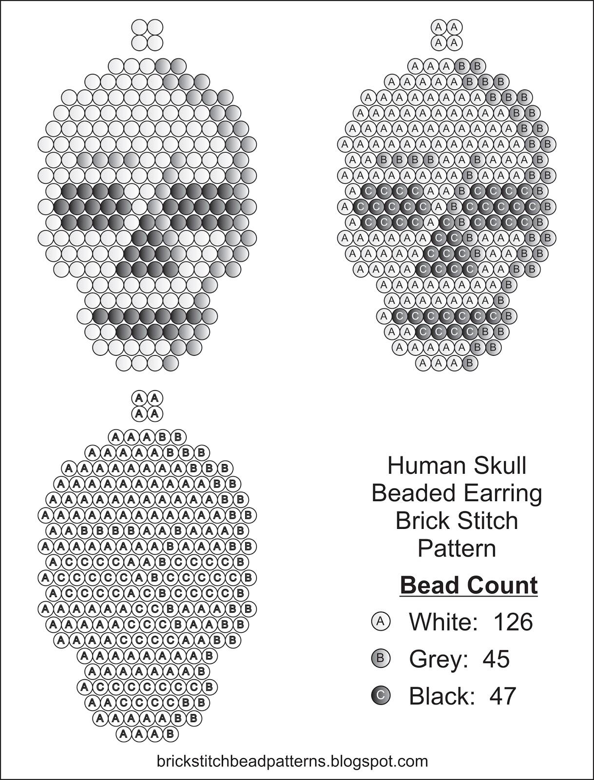такой череп из бисера схема вас очень