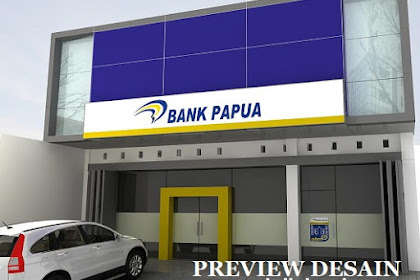 Jasa desain 3d gedung Bank Papua via Online