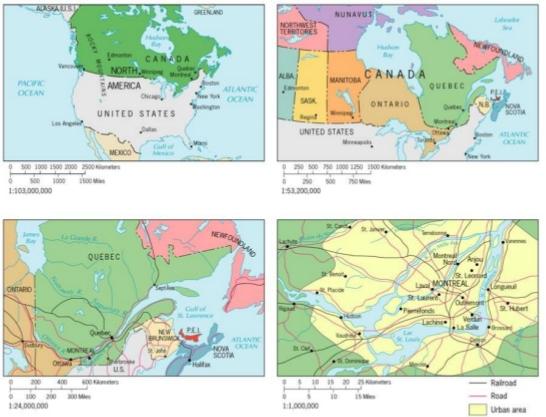 Cartografia e Escalas Cartográficas