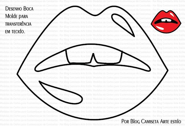 desenhos de bocas para colorir