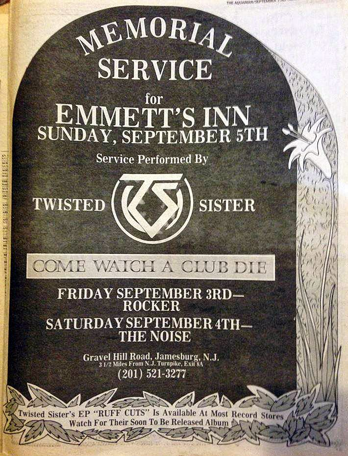 Emmett's Inn rock club closing