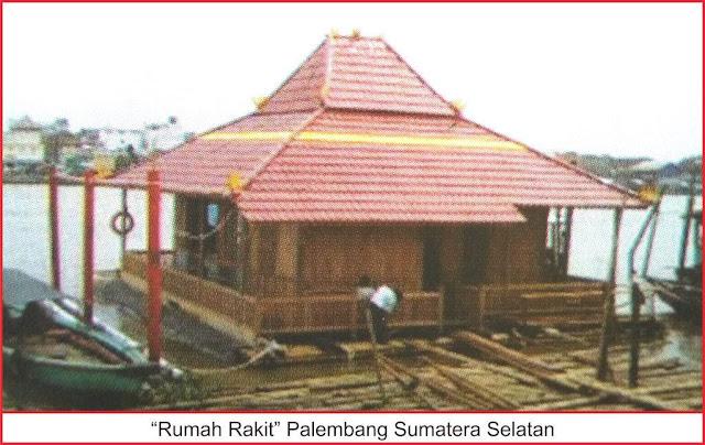 gambar rumah rakit palembang sumatera selatan