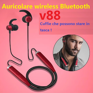 cuffie bluetooth stereo sport v88