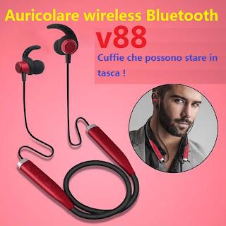 cuffie bluetooth stereo sport v88