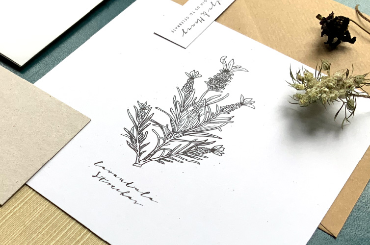 Botanical Wedding Invite - Alfie's Studio