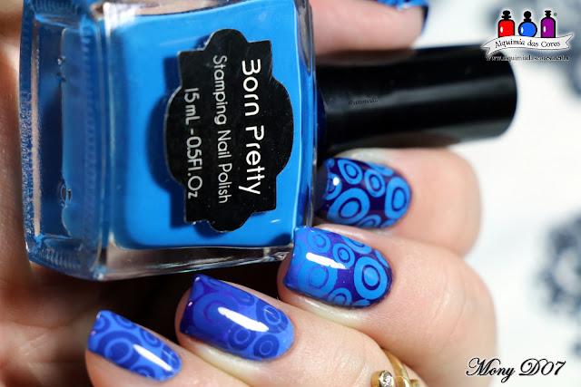 Bourjois, Bleu Violet, Bleu Fabuleux, Azul, Ombré, Degradê, Nail Art, Carimbada, Born Pretty, Cheeky, CH48, Mony D07, Dicas, esmaltes, cremoso, burple,