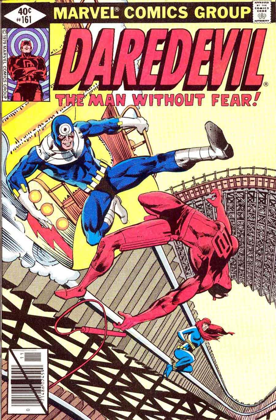Daredevil v1 #161 bullseye marvel comic book cover art by Frank Miller