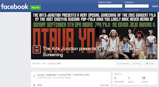 facebook: Event hosted by 3030: The Arts Junction presents OTAVA Yo Concert Screening