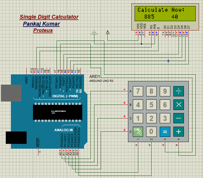 Interfacing LCD and Keypad Module: Calculator Project