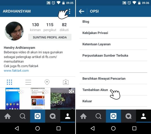 laman profil Instagram