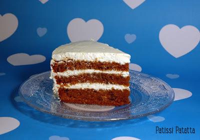 recette de carrot cake et cream -cheese, recette anglaise, british recipe, patissi-patatta