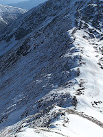 The saddle between Colorado 14ers Mount Democrat and Mount Cameron