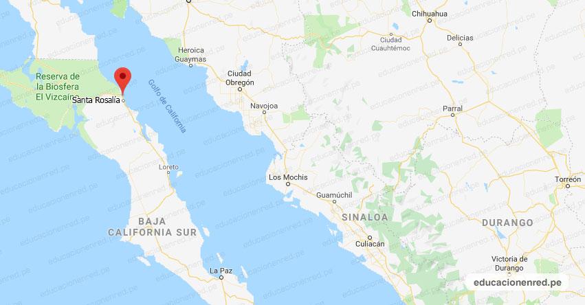 Temblor en México de Magnitud 4.0 (Hoy Domingo 12 Julio 2020) Sismo - Epicentro - Santa Rosalía - Baja California Sur - B.C.S. - SSN - www.ssn.unam.mx