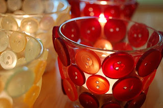 Kreasi Kerajinan Tangan Membuat Tempat Lilin Dari Gelas Dan Kancing Baju