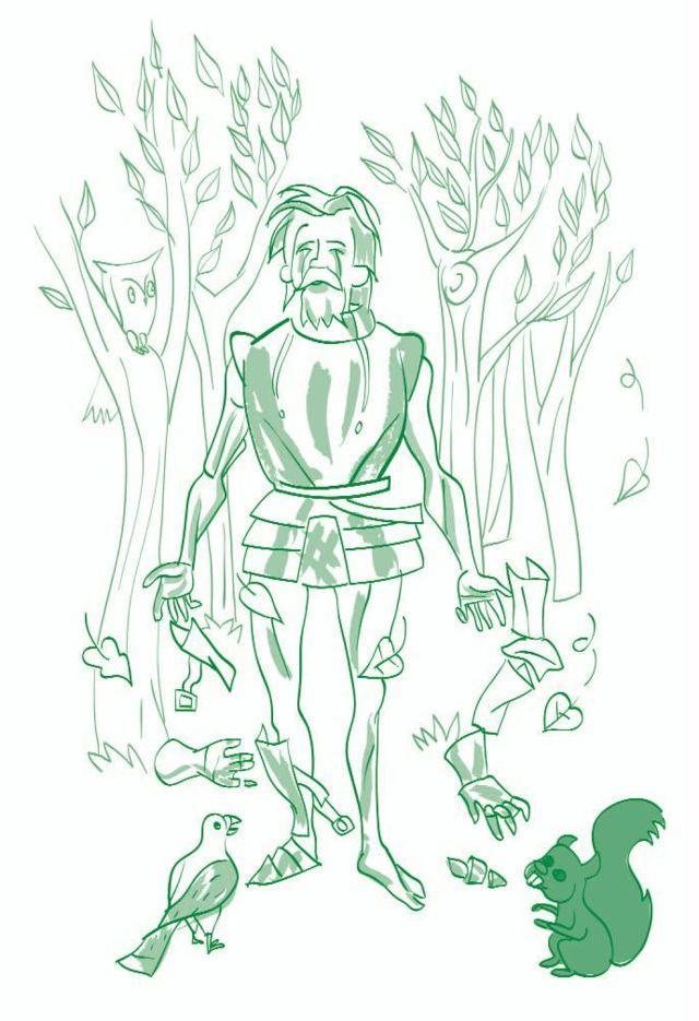El caballero de la armadura oxidada-El castillo del conocimiento-ilustración: Mario Diniz-© FAD 2009
