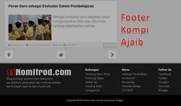 Cara Mudah Membuat Footer ala KompiAjaib.com