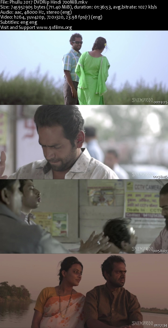 Phullu 2017 DVDRip Hindi 700MB