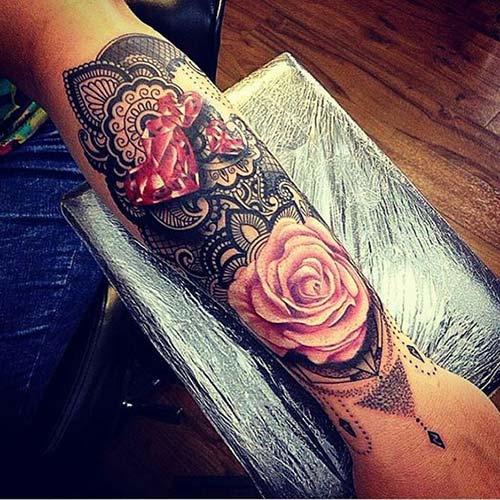 dantel dövmeleri lace tattoos 39