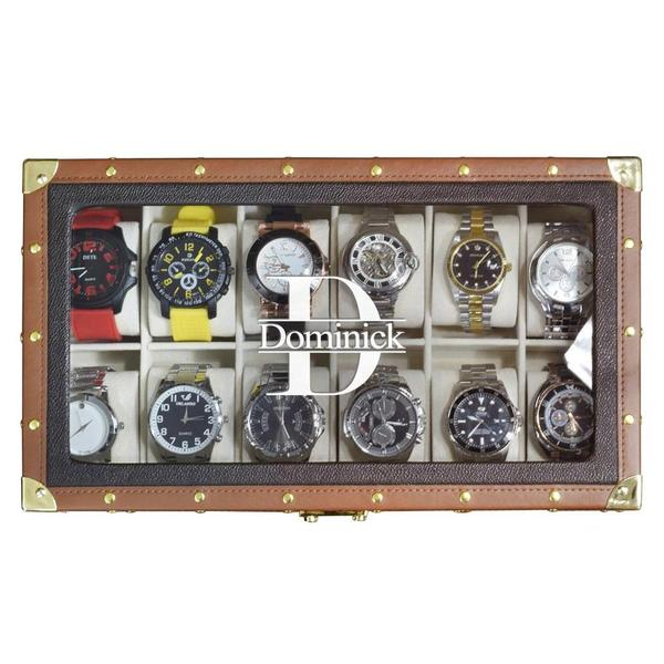 How to make a brown leatherette watch storage box.