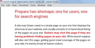 HTML sitemap importance