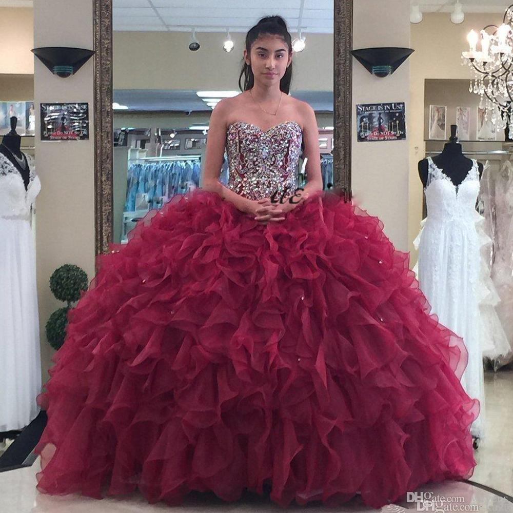 Tu Vestido De 15 Años Vestidos De 15 Años Color Vino 2019