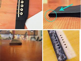 оторвался бридж гитары