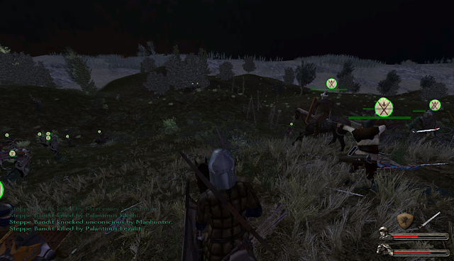 A night battle in Warband