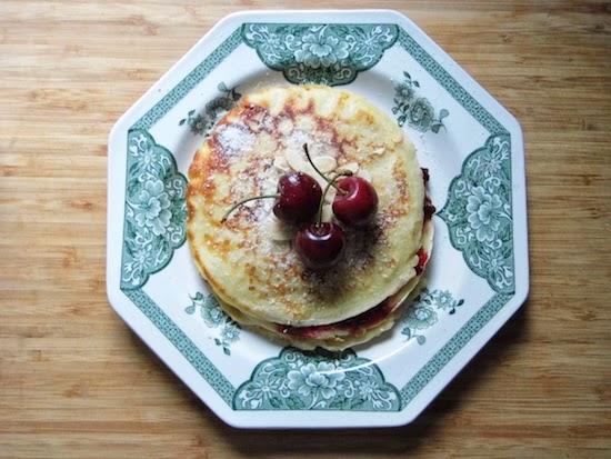 Bakewell Tart Pancakes