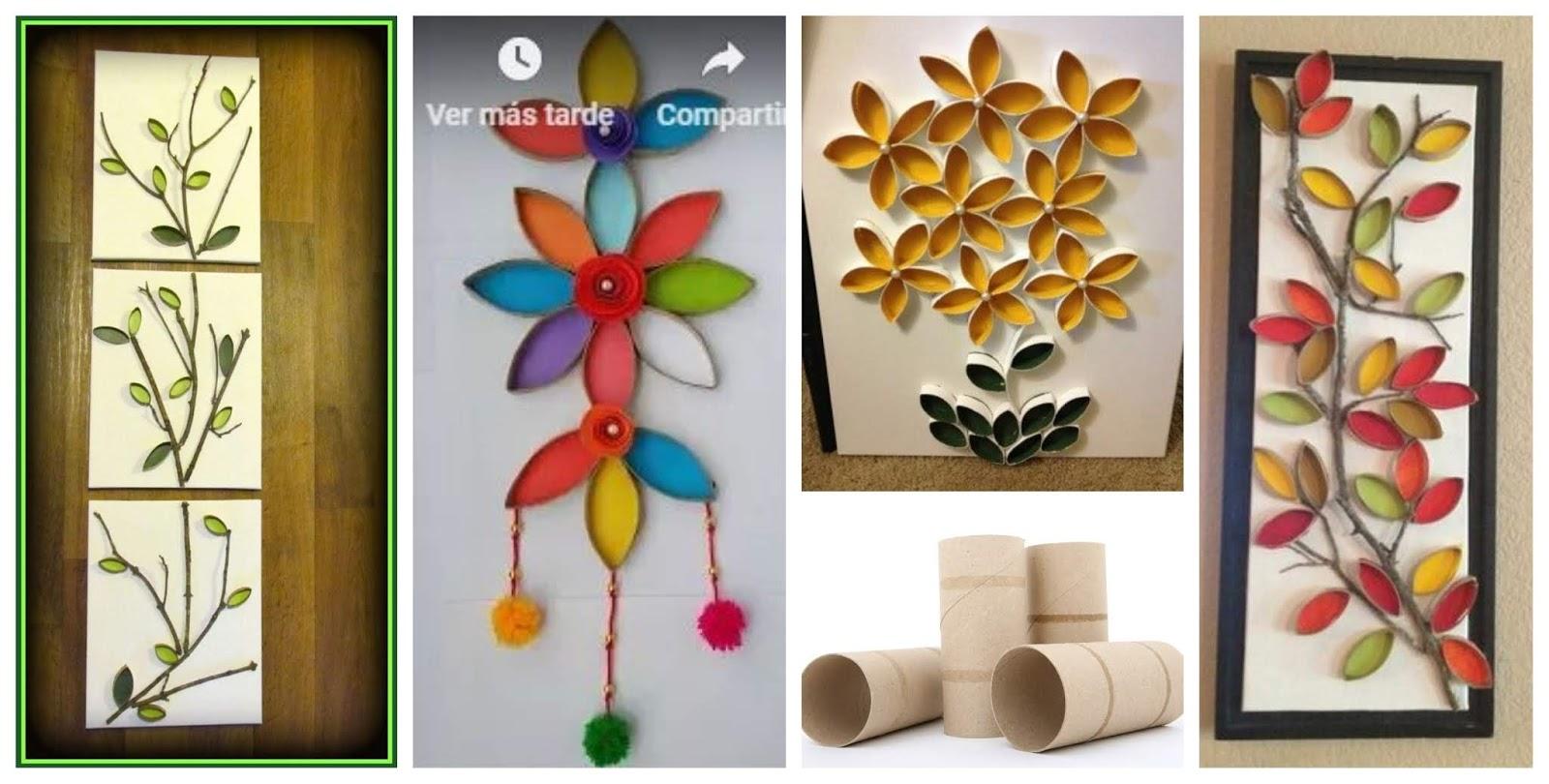 Haz lindos adornos para la pared reciclando rollos de - Manualidades con rollos de papel higienico para navidad ...