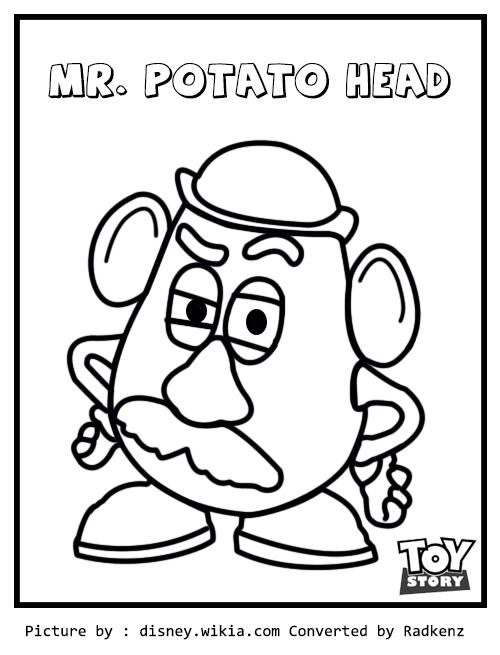 Radkenz Artworks Gallery Toy Story Mr Potato Head Coloring