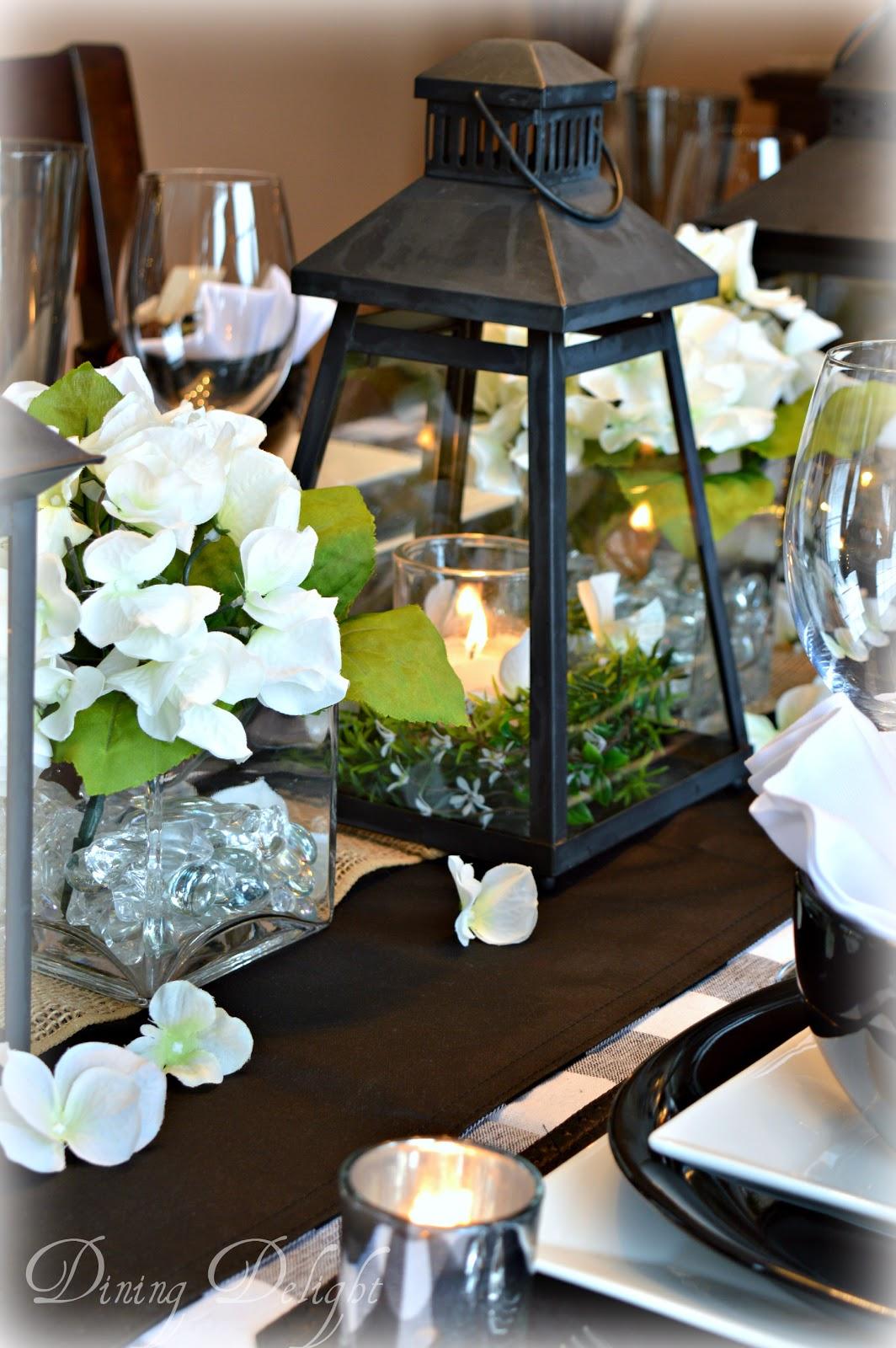 Dining Delight Black Lanterns Amp Buffalo Check Tablescape