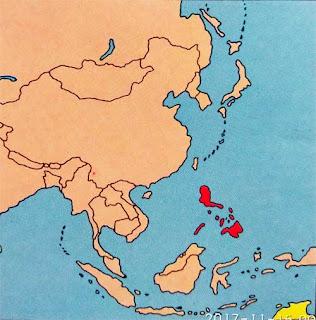 Gambar Peta Letak Negara Filipina