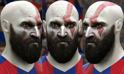 PES 2016 Kratos (God of War) Face By Alireza Free