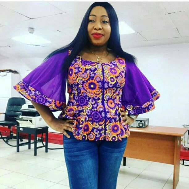 Ankara with flare sleeve