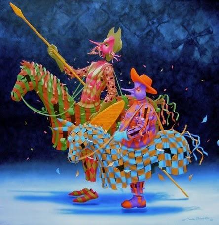 Dom Quixote - Claudio Souza Pinto e suas pinturas cheias de cor e criatividade