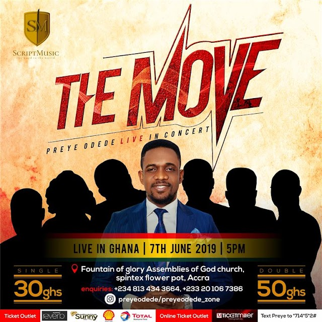 EVENT: Ghana Will Feel #THEMOVE! Preye Odede Is Coming With 7 Gospel Music Ministers! | Jun. 7th