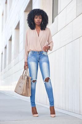 DeaTwilightZone - calça skinny e blusa mais larga
