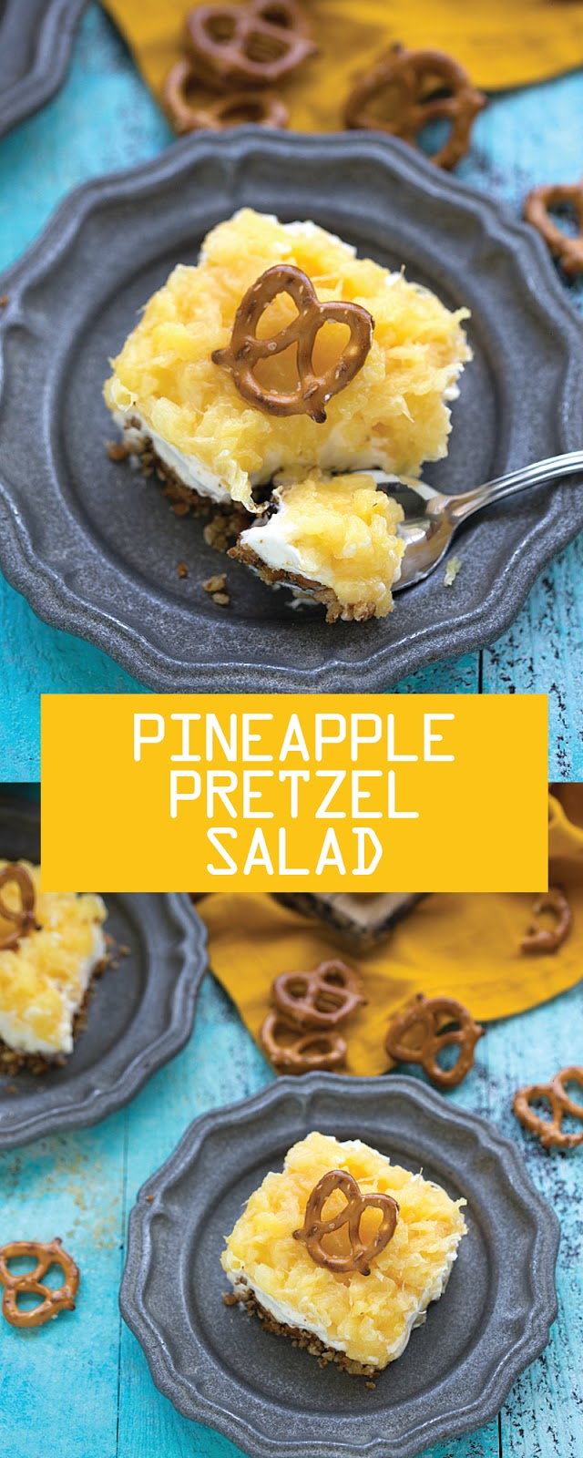 PINEAPPLE PRETZEL SALAD