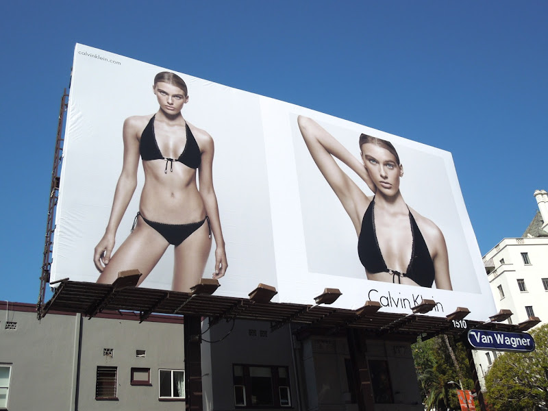 Calvin Klein Madison Headrick bikini billboard