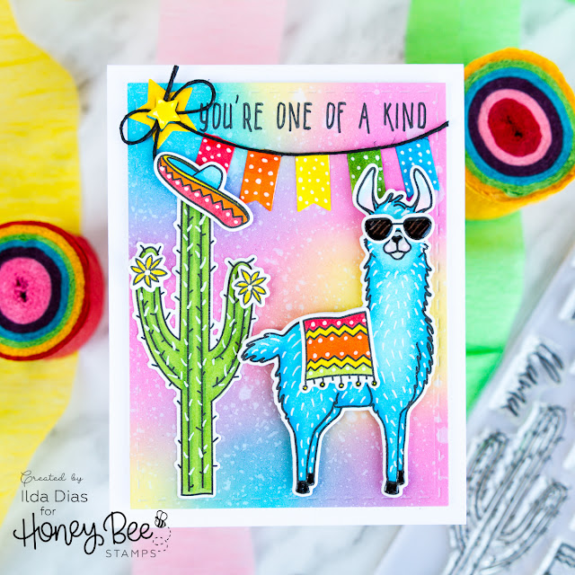 You're One of A Kind Party Animal Birthday Card for the BEE BOLD Blog Hop by ilovedoingallthingscrafty