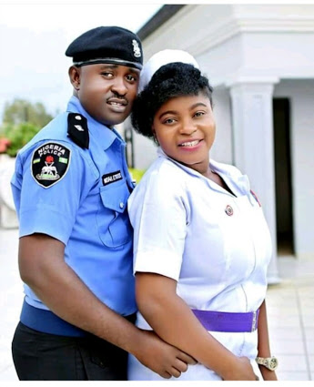 Pre-Wedding Photo Of A Police Officer and A Nurse