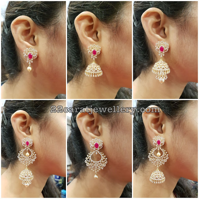 Multipurpose Spectacular Diamond Jhumkas