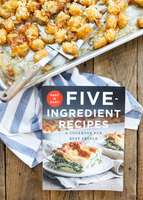 Cheesy Bacon Tater Tots are an irresistible recipe from Fast and Easy Five Ingredient Recipes: A Cookbook For Busy People