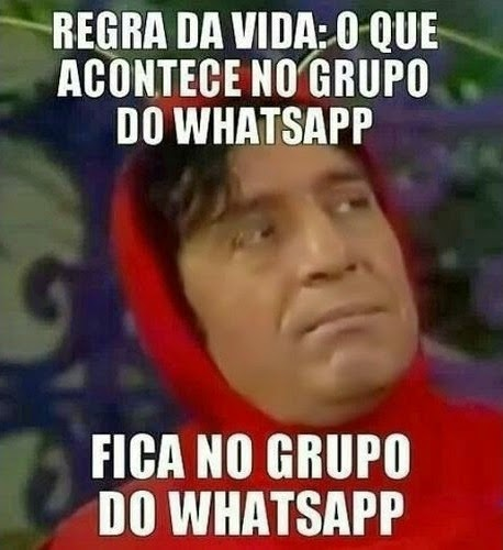 Regra da Vida no grupo do Whatsapp