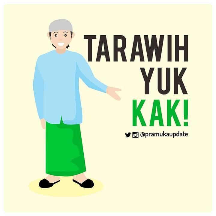 gambar ajakan shalat tarawih animasi